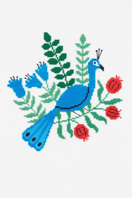 Peacock Cross Stitch Kit by DMC