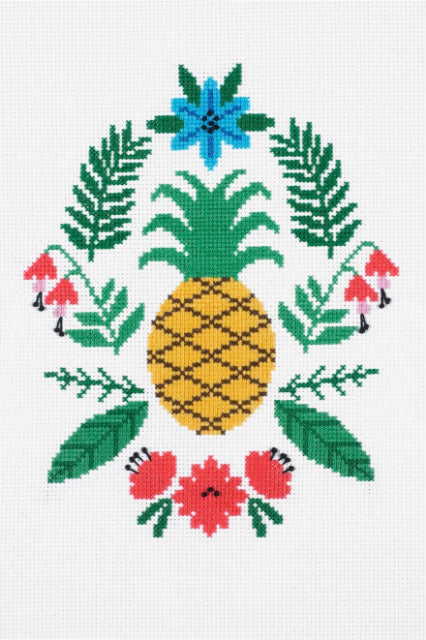 Pineapple Cross Stitch Kit by DMC