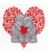 "DMC Tatty Teddy ""Me to You"" Love Bears Cross Stitch Kit"