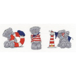 DMC Tatty Teddy Me to You Three Little Sailors Cross Stitch Kit