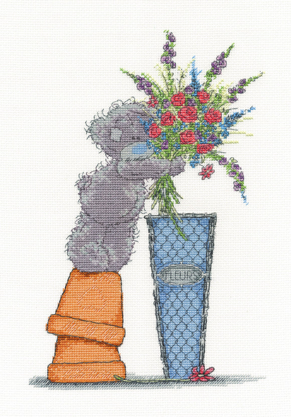 DMC Cross Stitch Kit -Tatty Teddy - Fresh Bouquet - BL1078/72