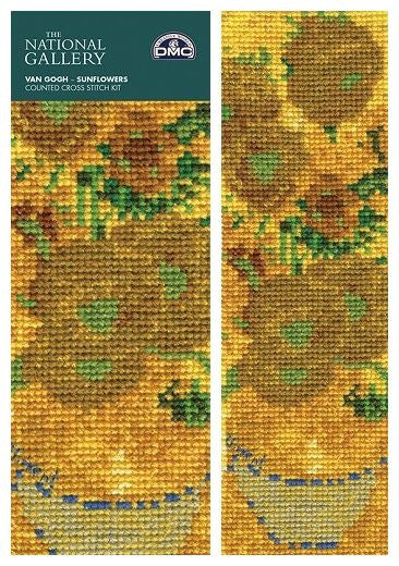 Van Gogh Sunflowers Book Mark Cross Stitch Kit from DMC