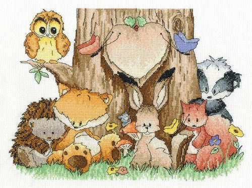 DMC Cross Stitch Kit - Woodland Folk - Home Is Where The Heart Is