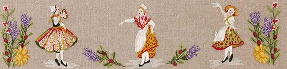 Royal Paris by Anchor Freestyle Embroidery Kit - Les Danses Provencales