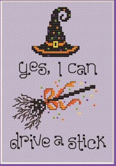 Drive A Stick Cross Stitch Chart