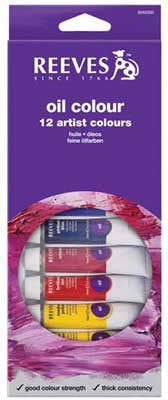 Reeves Oil Colour 12ml x 12