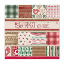 "Paper Pack (32pk) - Craft Christmas 12"" x 12"""