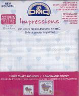 DMC Printed Needlework Fabric - Hearts