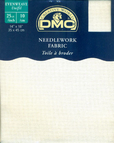 DMC Needlework Fabric - White - 25 count Evenweave - 14 x 18