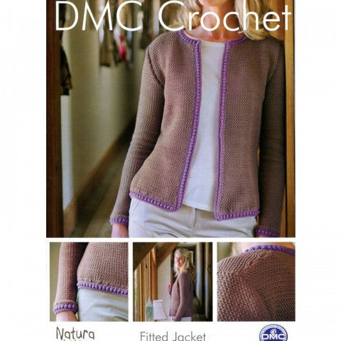 Ladies Fitted Jacket - DMC Crochet Pattern