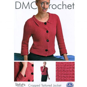 Ladies Cropped Tailored Jacket - DMC Crochet