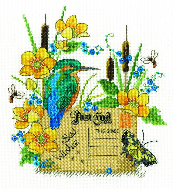 DMC Cross Stitch Kit - Kingfisher