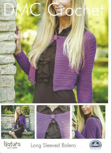 Ladies Long Sleeved Bolero - DMC Crochet