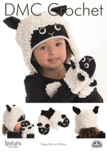 Child's Sheep Hat and Mittens Crochet Pattern - DMC Crochet