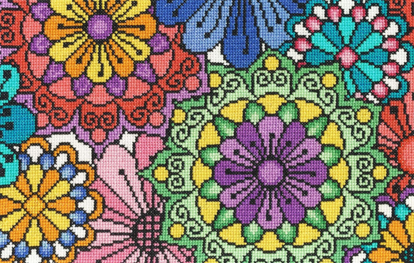 DMC - Flowered Forms - Statement Flowers Cross Stitch Kit - BK1642