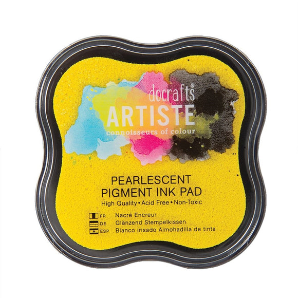 Artiste Pearlescent Gold Shimmer Pigment Ink Pad