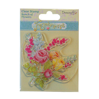 Dovecraft Forget Me Not Clear Stamp - Bunch of Flowers
