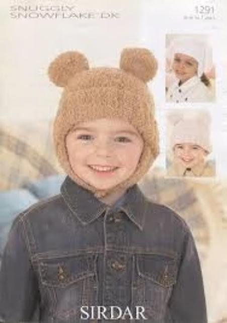 Sirdar Snuggly Snowflake DK Pattern – 1291 Hat and Helmets