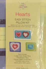 Hearts Easy Stitch Pillow Kit