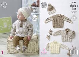 King Cole Knitting Pattern 5086 - Blanket, Sweaters, Hats and Socks in Cherish DK and Cherished DK