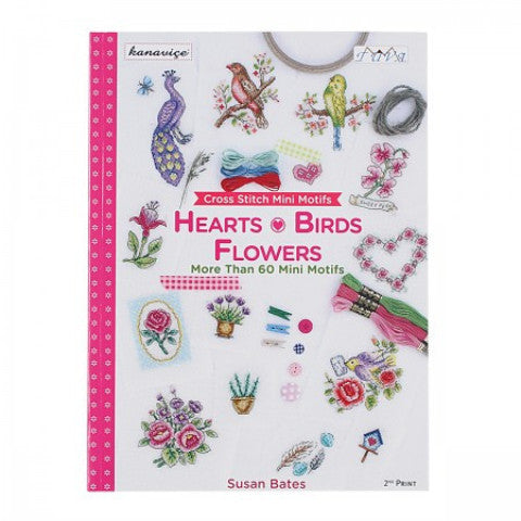 Hearts Birds and Flowers Cross Stitch Book by DMC