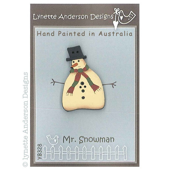Lynette Anderson Designs - Hand Painted Buttons - Mr Snowman