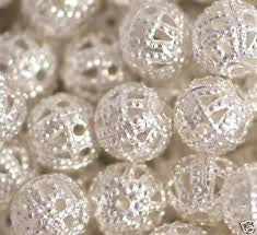Silver Plated Filligree Spacer Bead