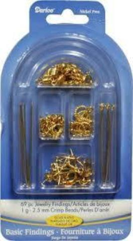 Basic Findings Set - Gold Plated - 69 pieces
