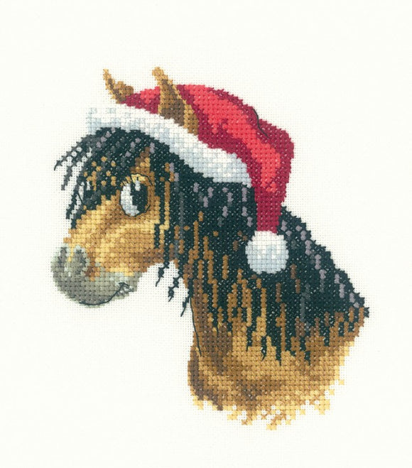 Heritage Crafts - Peter's Farm Christmas Pony Cross Stitch Kit