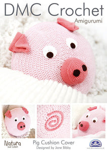 Pig Cushion Cover - DMC Crochet Amigurumi Pattern