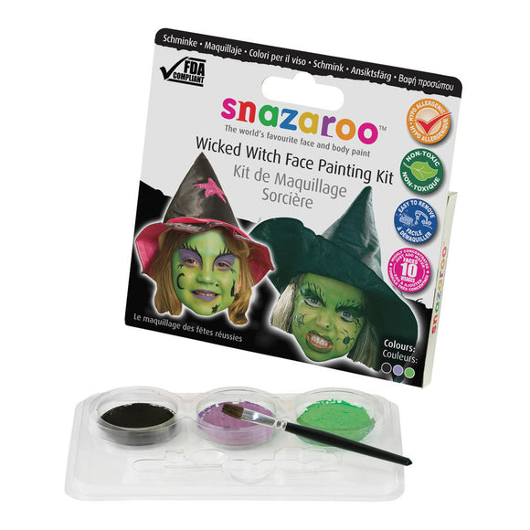 Snazaroo Wicked Witch Face Painting Kit