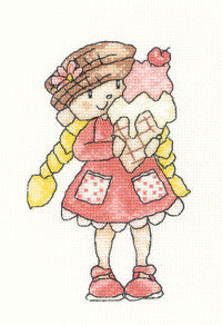 Heritage Crafts - Little Stars by Claire Pulsford - Ice Cream Cross Stitch Kit