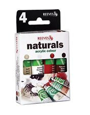 Reeves Naturals Acrylic Colour x 4