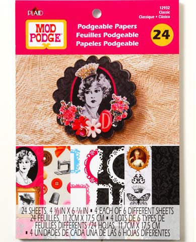Mod Podge Podgeable Papers Flip Book - Classic