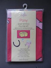 Pony Easy Stitch Pillow Kit