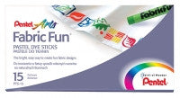 Pentel Fabric Fun Pastel Dye Sticks - Pack of 15