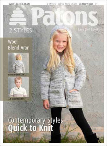 Child's Coat and Sweater in Aran - Patons 3850