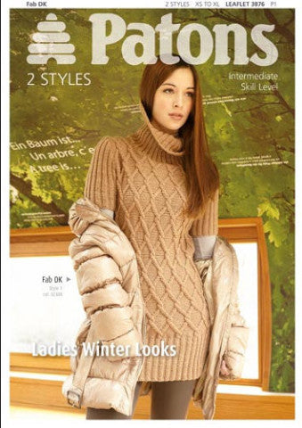 Ladies Winter Warmers Knitting Pattern - Patons 3876