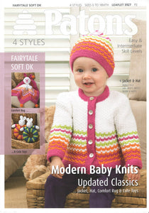 Babies Jacket, Hat , Comfort Rug and Toys Knitting Pattern - Patons 3927