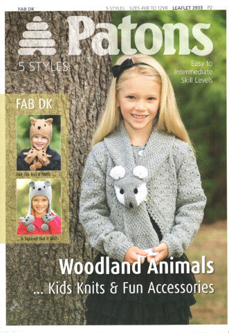 Woodland Animals Kids Knits and Fun Accessories - Patons 3933