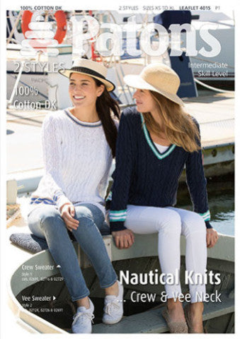 Ladies' Nautical Knits Knitting Pattern - Patons 4015