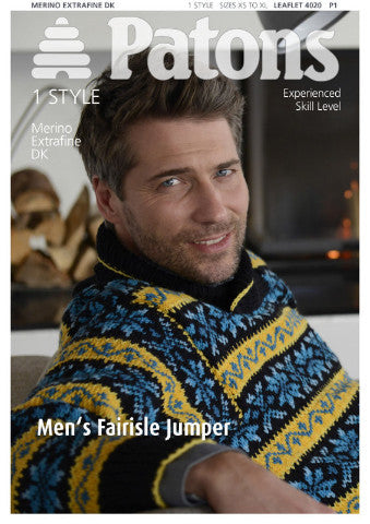 Men's Fairisle Jumper - Patons 4020