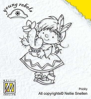 Nellie Snellen Young Rebel Stamp - Prickly