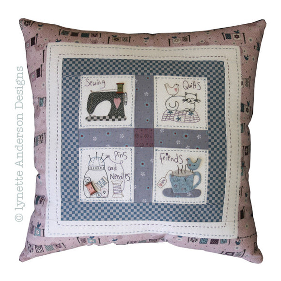 Lynette Anderson Sewing Friends Cushion Pattern