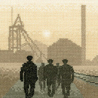 Heritage Crafts - Silhouettes - Early Shift Cross Stitch Kit