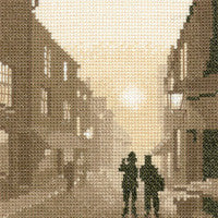 Heritage Crafts - Silhouettes - On the Beat Cross Stitch Kit