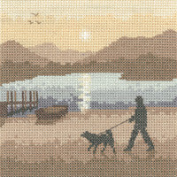 Heritage Crafts - Silhouettes - Sunset Stroll Cross Stitch Kit