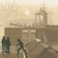 Heritage Crafts - Silhouettes - The Lock Cross Stitch Kit