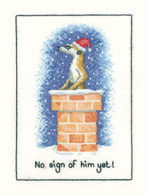 Meerkats No Sign Yet Cross Stitch Kit