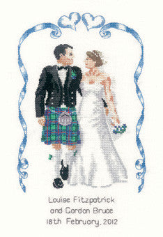 Heritage Crafts - Peter Underhill Collection - Scottish Wedding Cross Stitch Kit